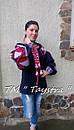 Блузка бохо вышитая, вышиванка,синий лен, этно стиль, Bohemian, фото 7