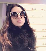Модные женские солнцезащитные очки кошка оправа леопард