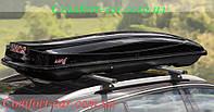 Бокс на крышу Amos Travel Pack 500 черный глянец ( Автобокс, аэробокс)