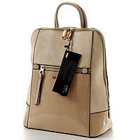 Кожаный рюкзак женский бежевого цвета G&T