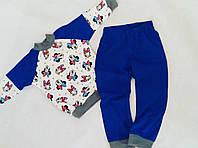 Трикотажная пижама с манжетами. Размеры  86, 92, 98, 104, 110, 116