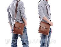Мужская кожаная сумка POLO. Сумки кожаные. Кожанная cумка.Код:КС2