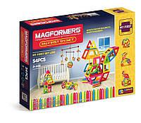Магнітний конструктор Магформерс Мій перший набір, 54 елемента
