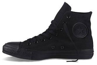 Кеды Converse All Star High черные  (унисекс), конверс олл стар, реплика