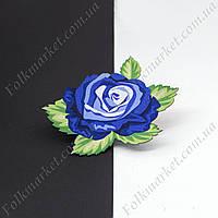 Термонаклейка на ткань Роза синяя