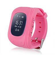 Детские Smart часы Q50 - телефон GSM, GPS, SOS, родительский контроль, розовый