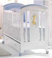 Комплект детской мебели NATURA LUXE WHITE-BLUE(Шкаф, кровать) Голубой белый (NATURA LUXE WH/BLUE/K2)