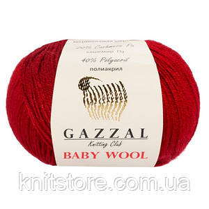Пряжа Gazzal Baby Wool Красный