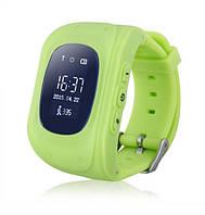 Детские Smart часы Q50 - телефон GSM, GPS, SOS, родительский контроль, зелёный