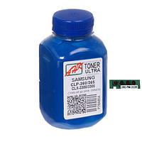 Тонер + чип Samsung CLP-360/365, CLX-3300/3305, Cyan, 40 г, Ultra Color, AHK (1505414)