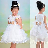 Нарядное детское платье с рюшами