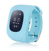 Детские Smart часы Q50 - телефон GSM, GPS, SOS, родительский контроль, голубой