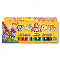 "Гуашь ( Témpera Sólida Escolar ) INSTANT PlayColor ""One"" 12цв."