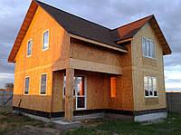 Монтаж комплекта дома по канадской технологии из СИП-панелей