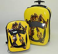 "Набор чемодан детский на колесах + рюкзак ""Josef Otten"" Transformers"