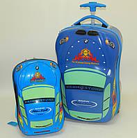 "Набор чемодан детский на колесах + рюкзак ""Josef Otten"" Авто"