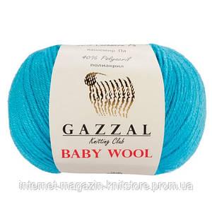 Пряжа Gazzal Baby Wool Бирюзовый