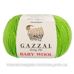 Пряжа Gazzal Baby Wool Салатовый