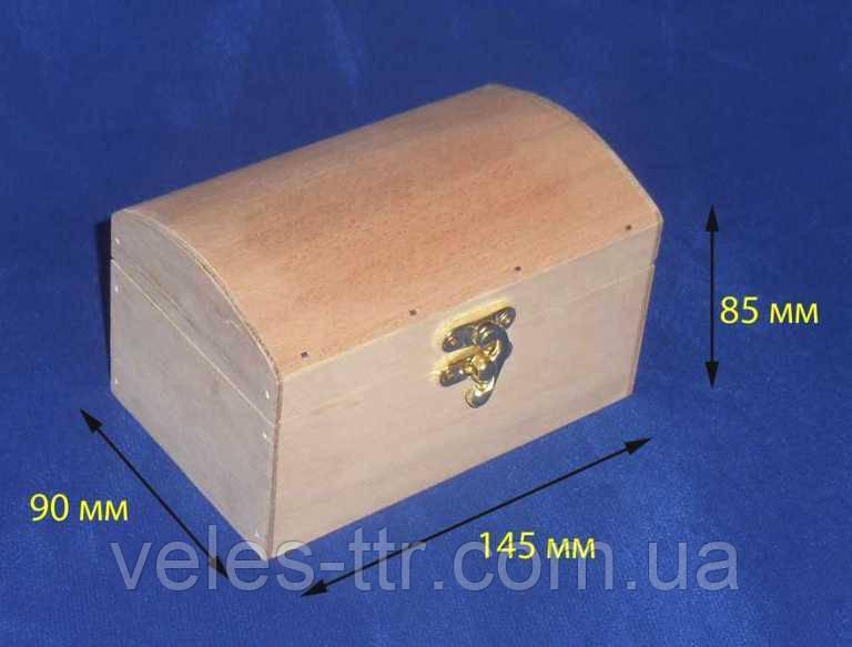 Шкатулка Сундук 14.5х9х8,5 см фанера заготовка для декора