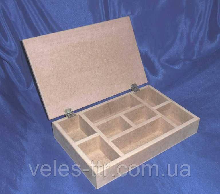 Шкатулка с делениями 30х19х5,8 см мдф заготовка для декора