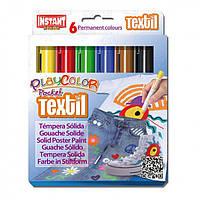 "Краски-мелки INSTANT PlayColor ""Pocket Textil"" 6цв."