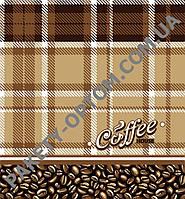 """Пакет с петлевой ручкой тип """"Диор"""" """"Кофе в клетку"""" (38х42(+3)) 25 шт"""
