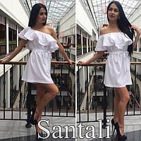 Платье Волна белое, одежда женская