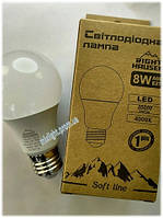 Светодиодная лампа 8W E27 4000K Soft line Right Hausen