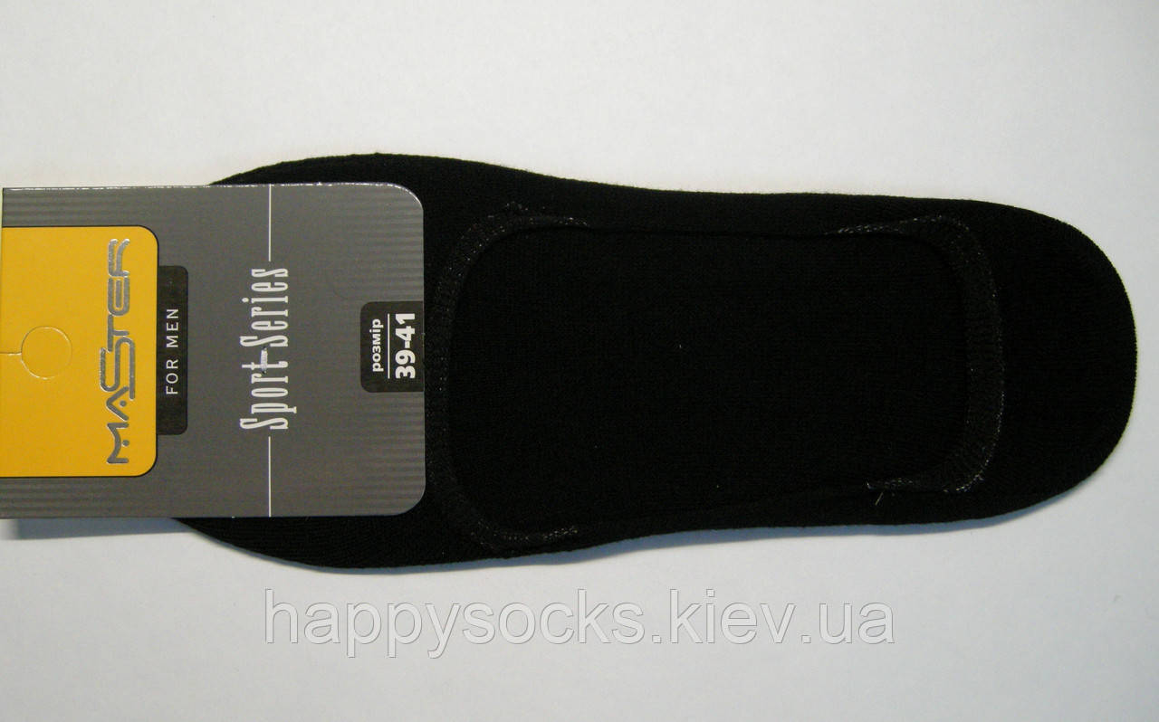 Открытые мужские следки черного цвета для открытой обуви