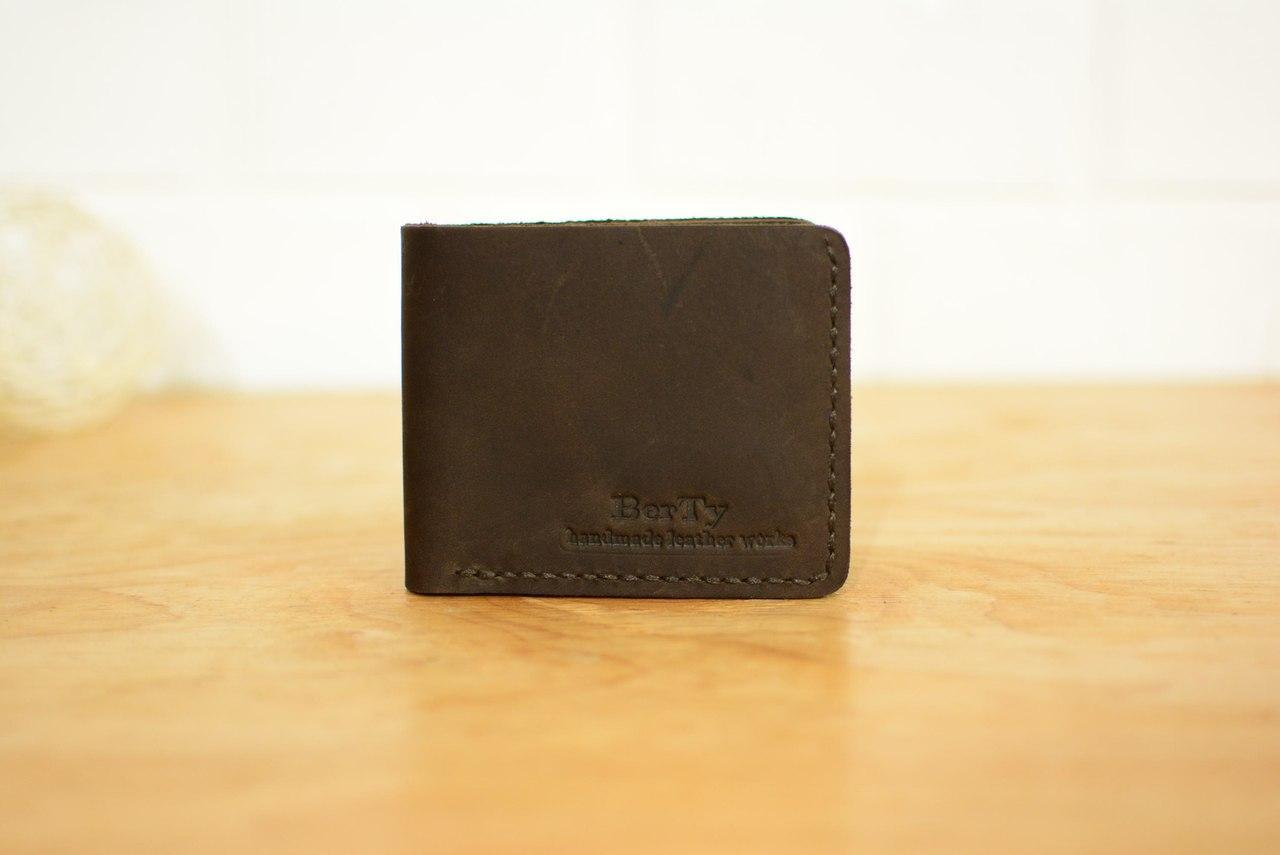 5b9787150d3d Классическое мужское портмоне на 6 карточек | Винтажный Кофе - Sollomia -  интернет-магазин кожаных