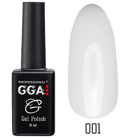 Гель-лак GGA Professional №001 Classic White 15 мл.