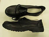 Туфли летнии кожаные клеепрошивные черные на шнурках
