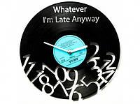 Виниловые часы I аm late anyway