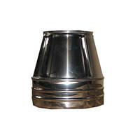 Конус для дымохода из нержавеющей стали с теплоизоляцией финишный d 100/160мм s 0,5/0,5 мм