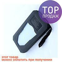 Портативный аккумулятор UKC Metal Solar Led 25800 / Переносной аккумулятор для телефона Power Bank