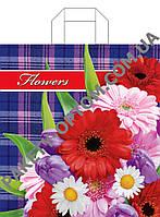 """Пакет с петлевой ручкой тип """"Диор"""" """"Цветы А-ля классик"""" (38х42(+3)) 25 шт"""