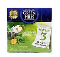 Чай зеленый с мятой и календулой Green Hills, 20 пакетиков