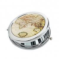 Карманное зеркало Карта мира