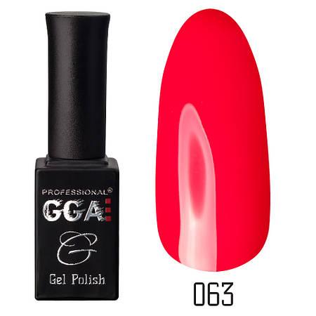 Гель-лак GGA Professional №63 Rose Murder 10 мл.