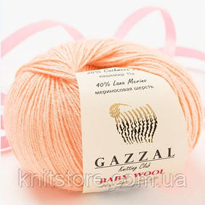 Пряжа Gazzal Baby Wool Персиковый