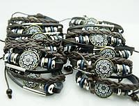 Унисекс браслеты с рисунками, браслеты фенечки из кожи 151