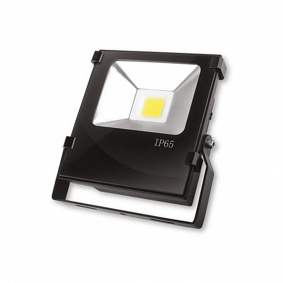 Светодиодный прожектор EUROELECTRIC COB черный с радиатором 20W 6500K modern