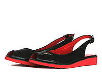 Красно-черные босоножки, фото 1