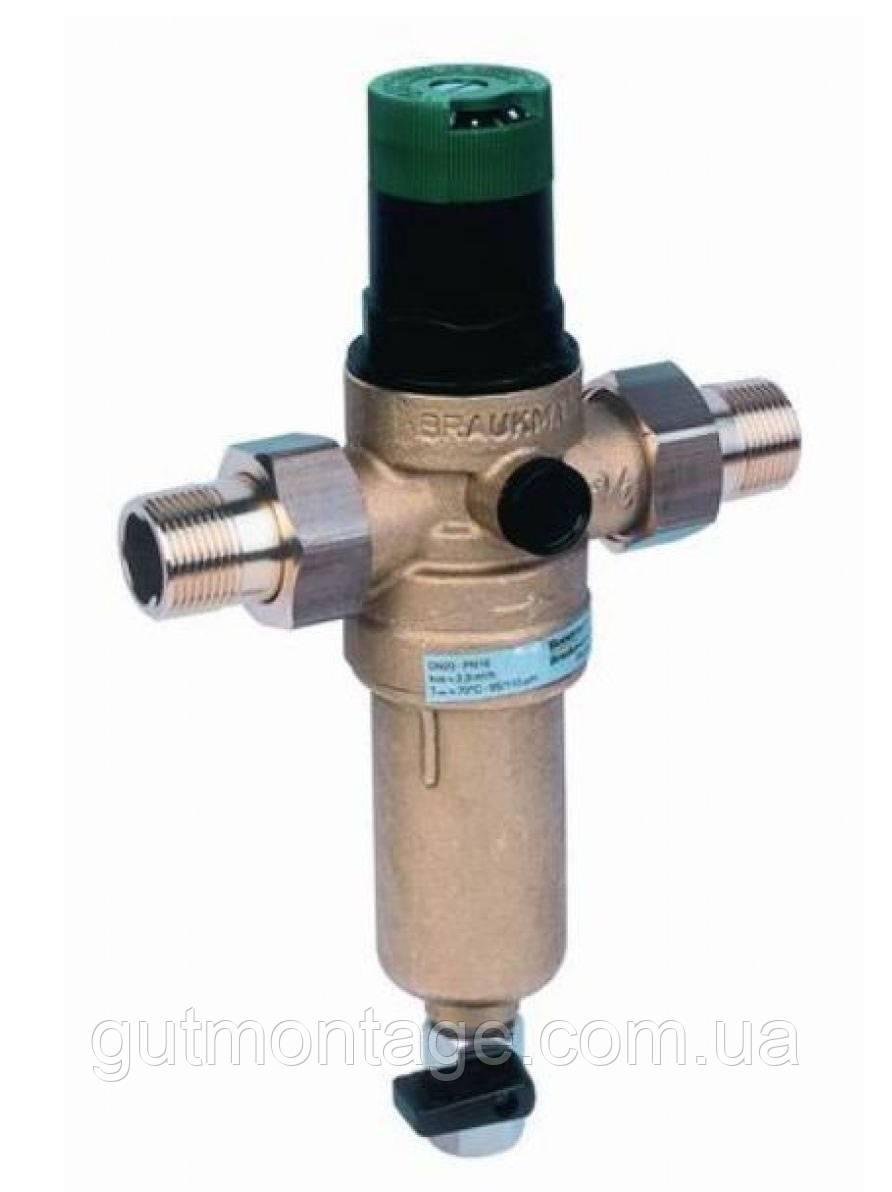 Фильтр промывной с редуктором Honeywell FК06 3/4ААМ. Бронза. Для горячей воды
