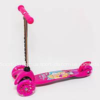 Самокат MINI Barbie Disney (с регулируемой ручкой)