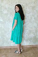 Платье тройной валан