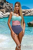 Трехцветный закрытый купальник Lorin (Лорин) 4103