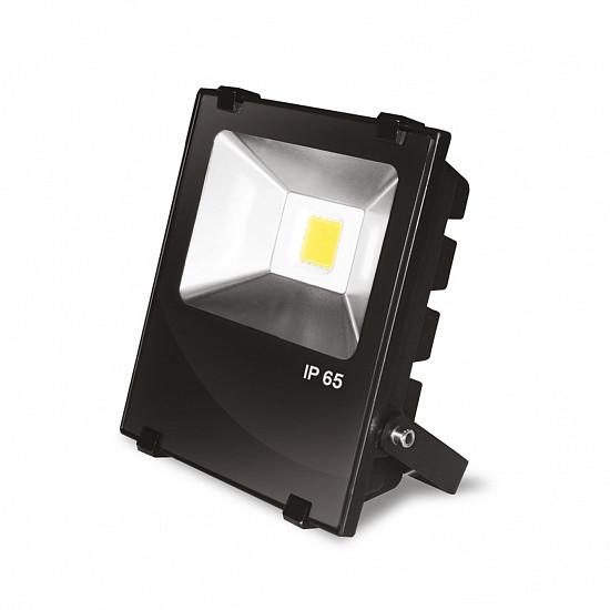 Светодиодный прожектор EUROELECTRIC COB черный с радиатором 10W 6500K modern