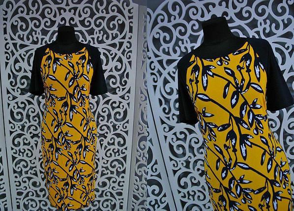 """Женское платье приталенного кроя """"масло"""" 52, 54, 56 размер баталы, фото 2"""
