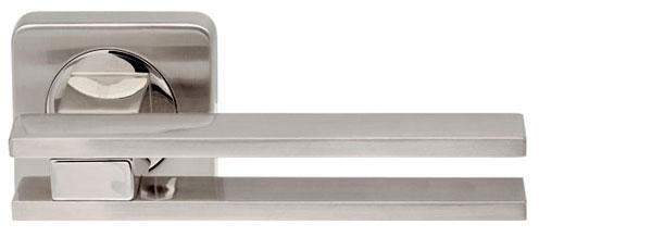 Ручка раздельная BRISTOL SQ006-21 SN/CP-3 матовый никель/хром